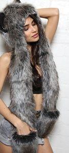 Authentic Grey Wolf Spirithoood